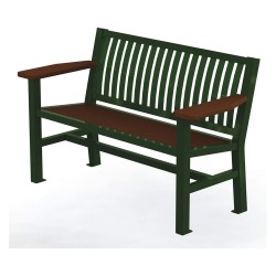 Graber Manufacturing - LVB-4-WI-LEX - Outdoor Bench, 54 in. L, 24 in. W, Green