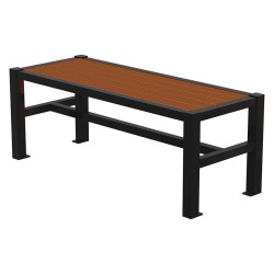 Graber Manufacturing - LVF-4-WI-B - Outdoor Bench, 48 in. L, 18-3/4 in. W, Blck
