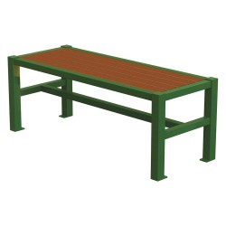 Graber Manufacturing - LVF-4-WI-LEX - Outdoor Bench, 48 in. L, 18-3/4 in. W, Grn