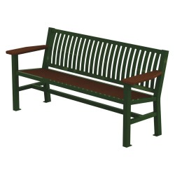 Graber Manufacturing - LVB-6-WI-LEX - Outdoor Bench, 66 in. L, 24 in. W, Green
