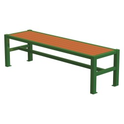 Graber Manufacturing - LVF-6-WI-LEX - Outdoor Bench, 70 in. L, 18 in. H, Green