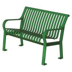 Graber Manufacturing - CRB-4-VS-LEX - Outdoor Bench, 48 in. L, 27-1/2 in. W, Grn