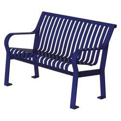 Graber Manufacturing - CRB-4-VS-MBL - Outdoor Bench, 48 in. L, 27-1/2 in. W, Blue