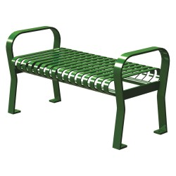 Graber Manufacturing - CRF-4-VS-LEX - Outdoor Bench, 49 in. L, 20 in. W, Green