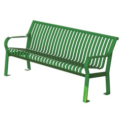 Graber Manufacturing - CRB-6-VS-LEX - Outdoor Bench, 71 in. L, 27-1/2 in. W, Grn