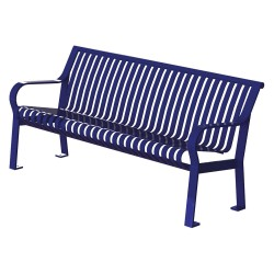 Graber Manufacturing - CRB-6-VS-MBL - Outdoor Bench, 71 in. L, 27-1/2 in. W, Blue