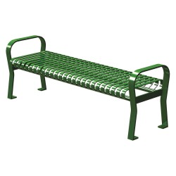 Graber Manufacturing - CRF-6-VS-LEX - Outdoor Bench, 71 in. L, 25-1/2 in. W, GRN