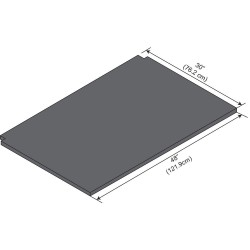 ICI - EPWS-48 - Work Surface, Phenolic, 1in.H, 30in.L