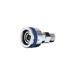 ICI - QED-G - Stainless Steel Quick Connect Fitting with Female Connection Type for Natural Gas, Blue