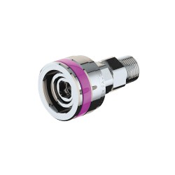 ICI - QED-AR - Stainless Steel Quick Connect Fitting with Female Connection Type for Argon, Purple