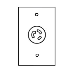 ICI - EN-LEV14-20R - 24 x 24 Electrical Outlet; For Use With Overhead Service Panel