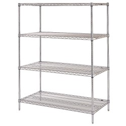 ICI - SCS1874-48 - Stationary Shelving Unit, 48inW, 4 Shelves