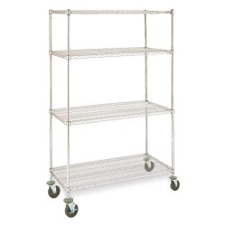 ICI - MCS1874-72 - Mobile Wire Shelving Unit, 72in, 4 Shelves