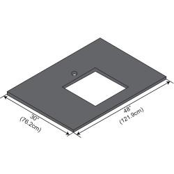 ICI - ELE4830-D55 - Work Surface, Epoxy, 48in.W, 30in.L