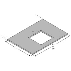 ICI - ELE6027E-D55 - Work Surface, Epoxy, 60in.W, 30in.L
