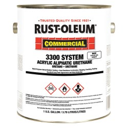 Rust-Oleum - 206916 - White Acrylic Enamel Coating, Gloss Finish, 355 to 770 sq. ft./gal Coverage, Size: 1 gal.