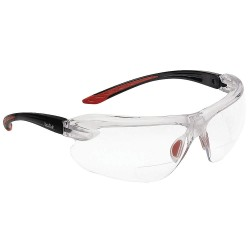 Bolle Safety - 40187 - Bolle Safety 40187 +1.50 Diopter Clear Lens Safety Reading Glasses, Black/Red
