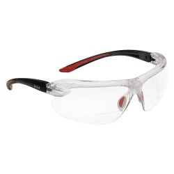 Bolle Safety - 40188 - Bolle Safety 40188 +2.00 Diopter Clear Lens Safety Reading Glasses, Black/Red