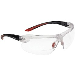 Bolle Safety - 40189 - Bolle Safety 40189 +2.50 Diopter Clear Lens Safety Reading Glasses, Black/Red