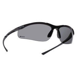 Bolle Safety - 40048 - Bolle Safety 40048 Smoke Lens Polarized Contour Safety Glasses, Dark Gunmetal