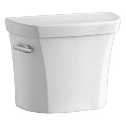 Kohler - K-4468-0 - Wellworth 1.6 gpf Toilet Tank, Left Hand Trip Lever, White