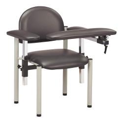 Clinton Industries - 6050-U-3GM - Blood Draw Chair, Gunmetal, Seat Depth 18, Seat Width 17-1/2, Seat Height 18