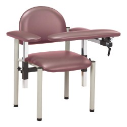 Clinton Industries - 6050-U-3MB - Blood Draw Chair, Mulberry, Seat Depth 18, Seat Width 17-1/2, Seat Height 18