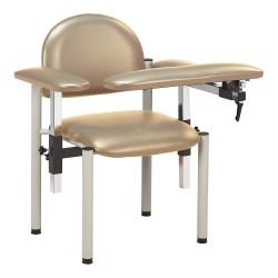 Clinton Industries - 6050-U-3CS - Blood Draw Chair, Clamshell, Seat Depth 18, Seat Width 17-1/2, Seat Height 18