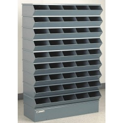 Stackbin - 3-245SSB - 55-1/2 Steel Sectional Bin Unit with 5000 lb. Load Capacity, Gray; Number of Compartments: 45