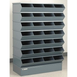 Stackbin - 3-328SSB - 54-3/8 Steel Sectional Bin Unit with 5000 lb. Load Capacity, Gray; Number of Compartments: 28