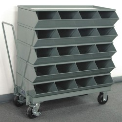 Stackbin - 3-320SSMB - 40 Steel Sectional Bin Unit with 3600 lb. Load Capacity, Gray; Number of Compartments: 20