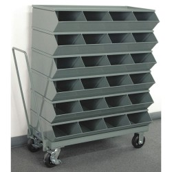 Stackbin - 3-324SSMB - 46-7/8 Steel Sectional Bin Unit with 3600 lb. Load Capacity, Gray; Number of Compartments: 24