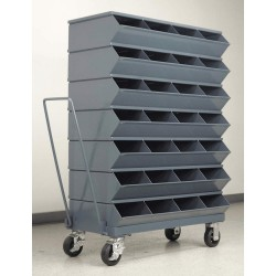 Stackbin - 3-328SSMB - 53-3/4 Steel Sectional Bin Unit with 3600 lb. Load Capacity, Gray; Number of Compartments: 28
