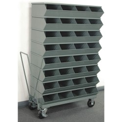 Stackbin - 3-332SSMB - 60-5/8 Steel Sectional Bin Unit with 3600 lb. Load Capacity, Gray; Number of Compartments: 32