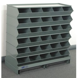 Stackbin - 3-230SSPB - 35-1/2 Steel Sectional Bin Unit with 5000 lb. Load Capacity, Blue; Number of Compartments: 30