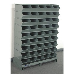 Stackbin - 3-245SSPB - 52 Steel Sectional Bin Unit with 5000 lb. Load Capacity, Blue; Number of Compartments: 45