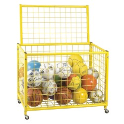 Champion Sports - LRCL - 42 x 24 x 29.75 Steel Game Ball Locker, Yellow