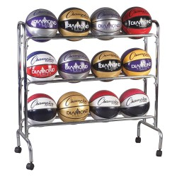 Champion Sports - BRC3 - 41 x 17 x 41 Steel Basketball Cart, Chrome