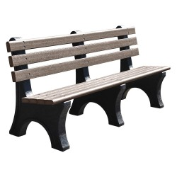 UltraSite - 20-GRY6 - Outdoor Bench, 72 in. L, 10 in. W, Gray