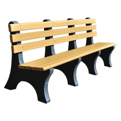 UltraSite - 20-CDR8 - Outdoor Bench, 96 in. L, 48 in. H, Woodtone