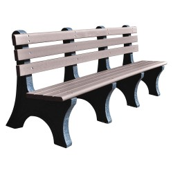 UltraSite - 20-GRY8 - Outdoor Bench, L96 in. L, 10 in W., Gray