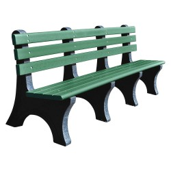 UltraSite - 20-GRN8 - Outdoor Bench, L96 in L., 48 in. H, Green