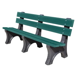 UltraSite - 21-GRN6 - Outdoor Bench, 72 in. L, 48 in. H, Green