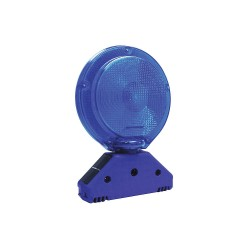 K&E Railhead - M900-SB - LED Barricade Light, 7-1/4 Head Dia., Blue, Solar