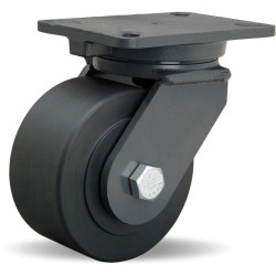 Hamilton Caster - S-CH-63NYB-4SL-FB - 6 Heavy-Duty Swivel Plate Caster, 4000 lb. Load Rating