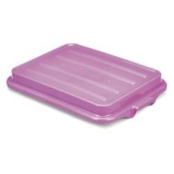 The Vollrath Company - 1500-C80 - 22 x 15-19/32 x 2-1/2 Polyethylene Food Box Lid, Purple