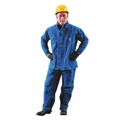 Ansell-Edmont - 66-670-L -GRA - Flame Resistant Jacket, L, Blue, Nomex(R)