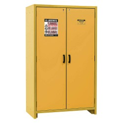 Justrite - 22603 - Justrite 45 Gallon Yellow Melamine Resin And Steel EN Flammable Safety Cabinet With (3) Adjustable Shelves And (2) Self-Closing Flame Retardant Doors, ( Each )