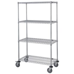 Other - GAWRC63-2436S - 36L x 24W x 69H Stainless Steel Stainless Steel Wire Cart, 1200 lb. Load Capacity