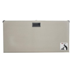 Foundations - 5410339 - Baby Changing Station, Horizontal, Recessed Mount, Stainless Steel/Polyethylene